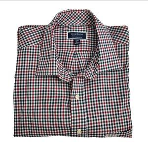 Club Room Regular Fit Plaid Button Down Shirt